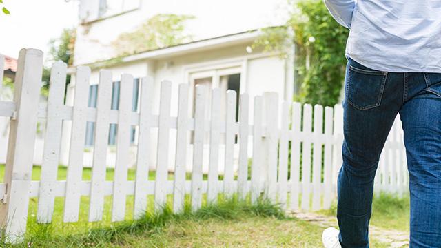 フェンスを使って庭の目隠しをする!